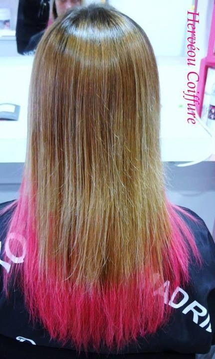 Tie And Dye Sweet Sixteen Pink Hair Chalk Realise Au Salon Herveou Coiffure A Brest Hair Blog Hair Styles Long Hair Styles