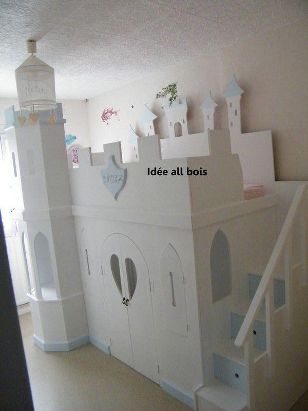 Lit château | Chambre enfant | Pinterest