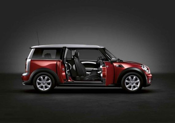 The Mini Cooper Clubman In Nightfire Red With Exterior Mirror Caps