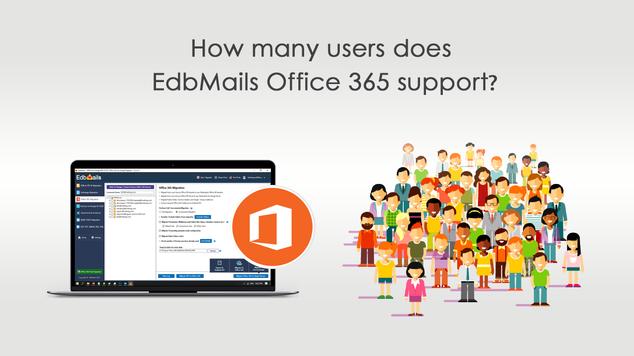 Map the mailboxes to Office 365 mailboxes Office