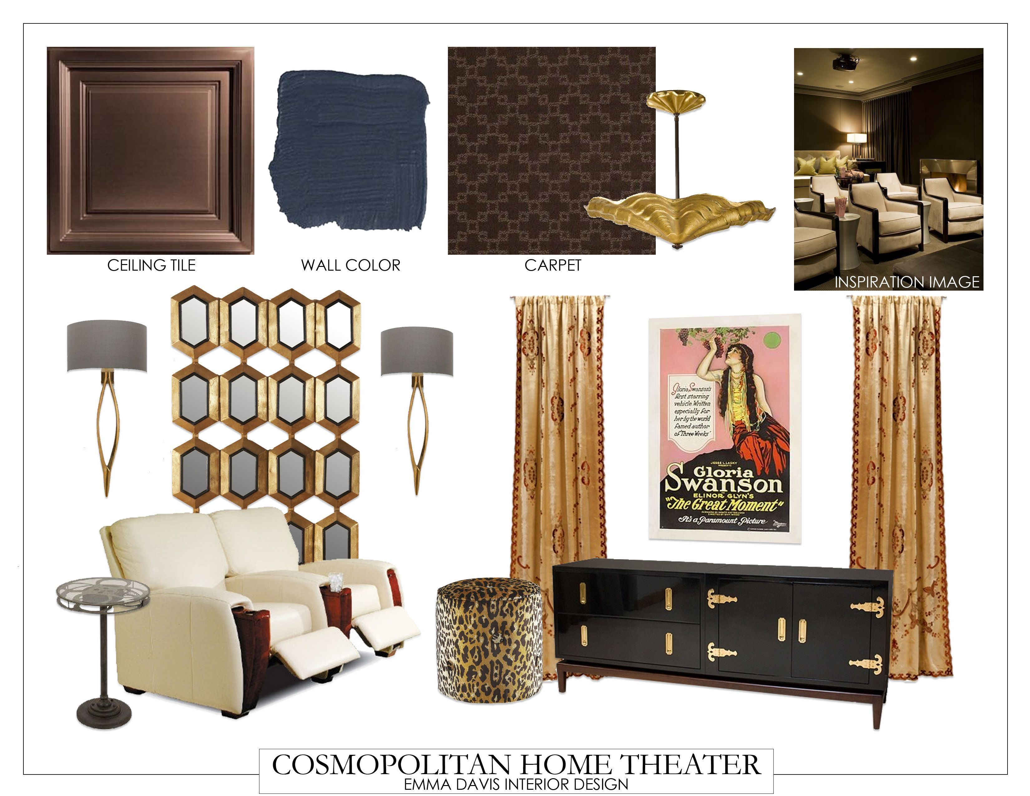 The whole Cosmopolitan Home Theater design. #fifthwallfriday ...