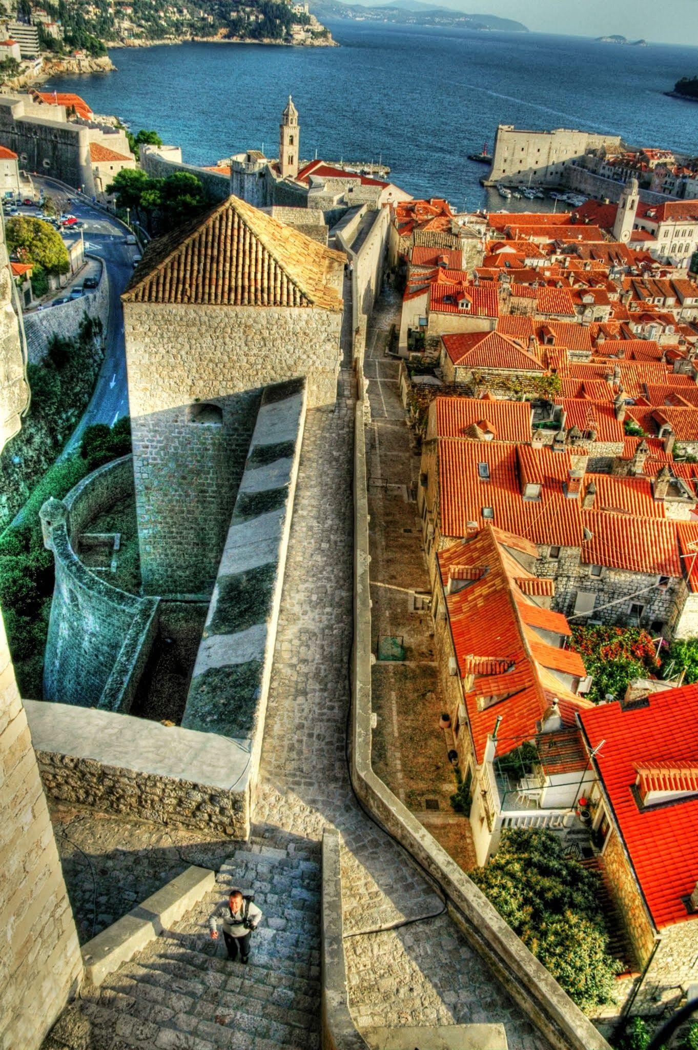 The Long Climb Minceta Fortress Old Town Dubrovnik