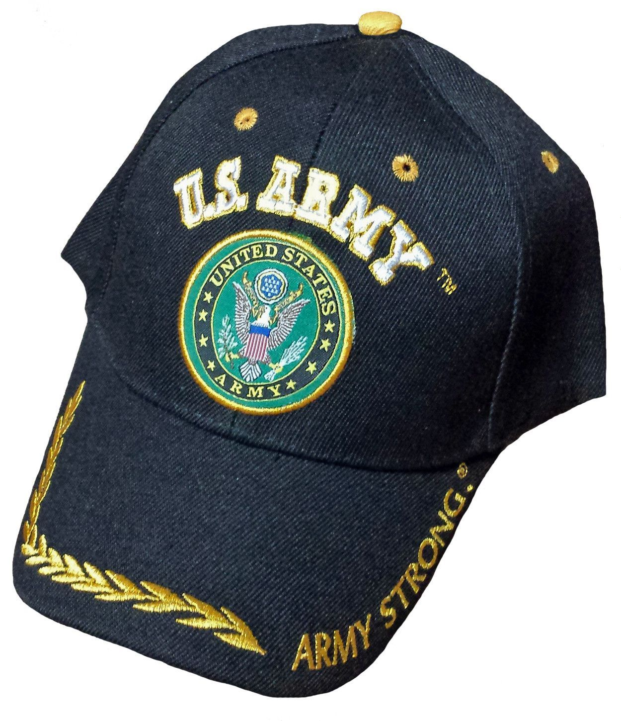 U.S. Army Hat Black Army Strong Logo Baseball Cap with