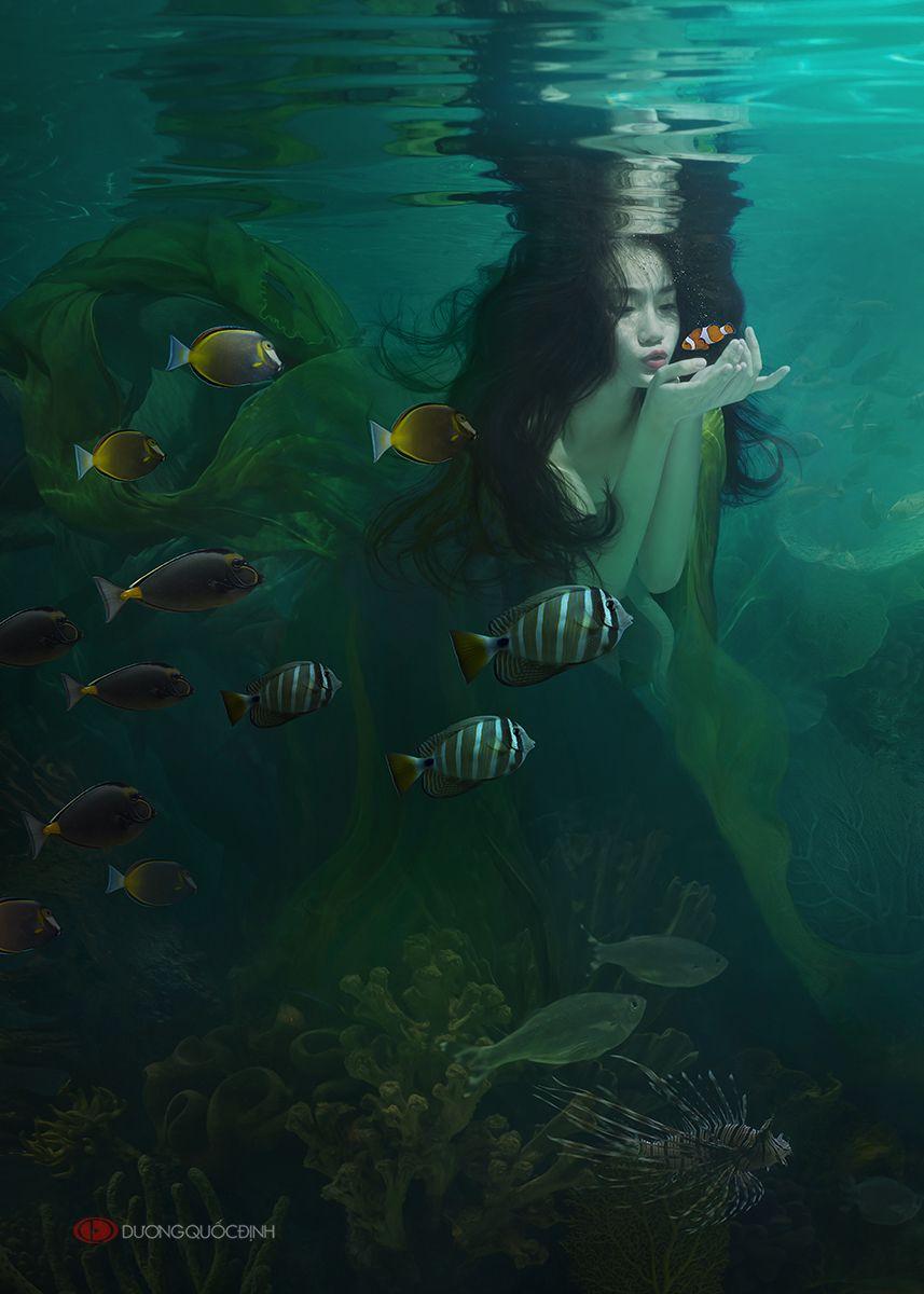 Ocean Girl by duongquocdinh.deviantart.com on @DeviantArt   Ocean girl,  Mermaid photography, Dreamy photography