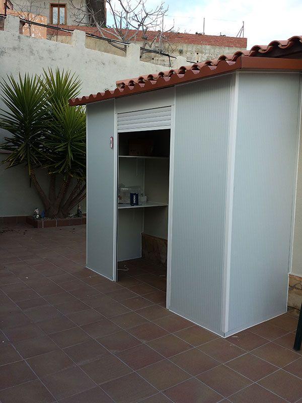 Resultado de imagen de armario aluminio exterior jardin for Casetas para terrazas