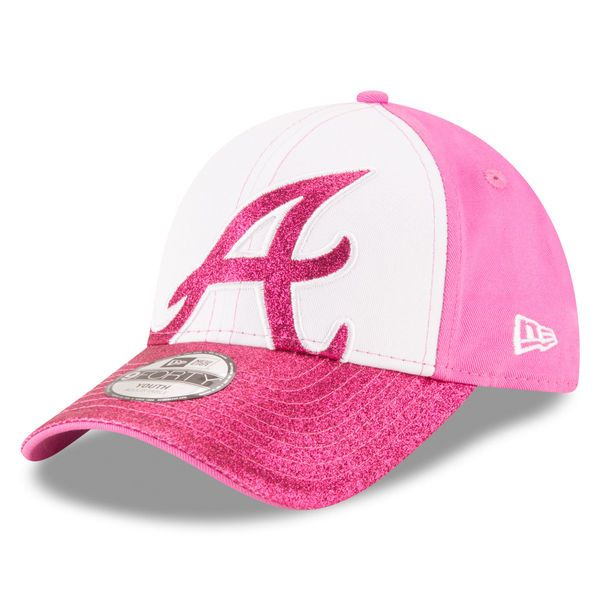 a7dcbe475ce new zealand atlanta braves new era girls youth shimmer shine 9forty  adjustable hat white pink bcd7d