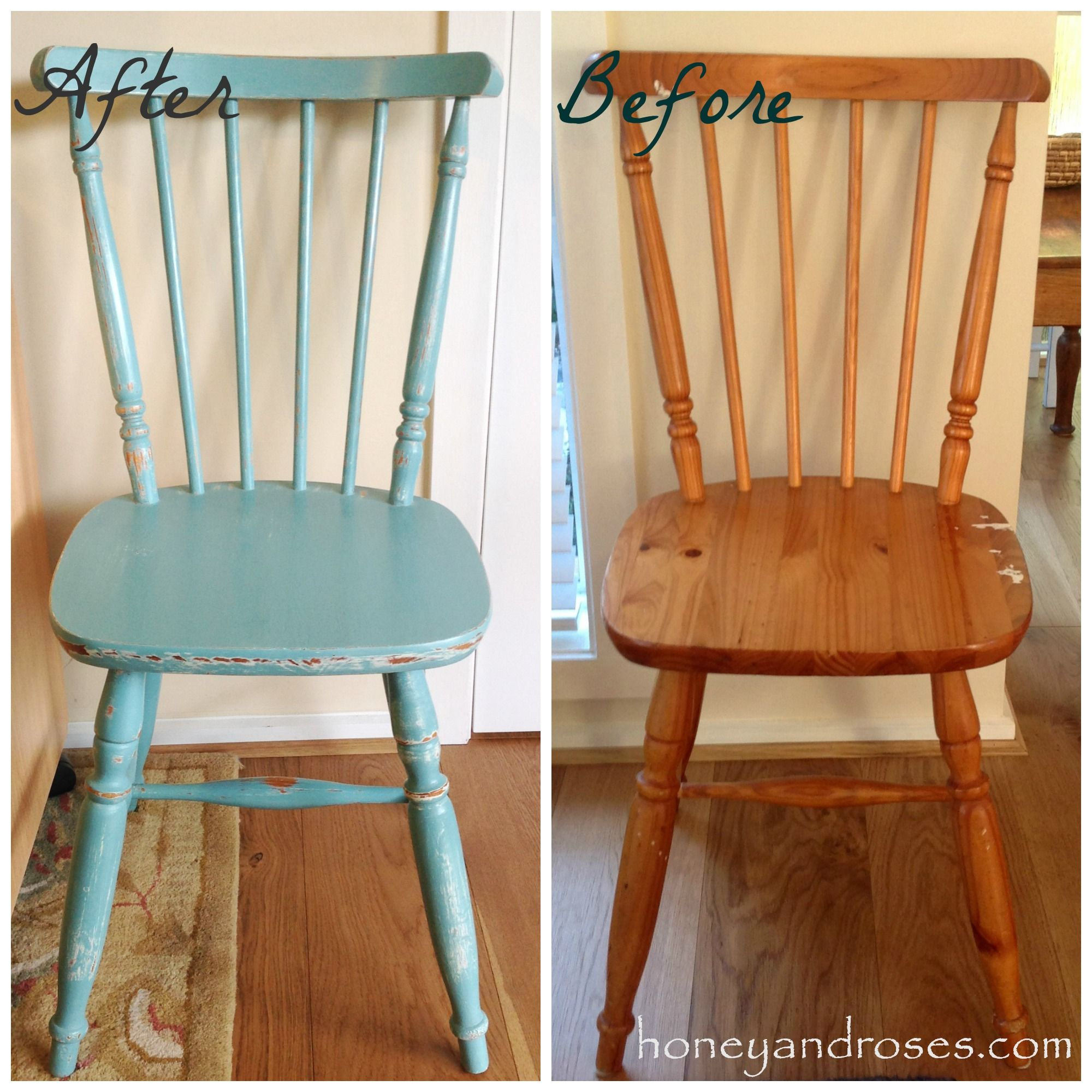 Makeover Of A Pine Kitchen Chair Uisng Chalk Paint