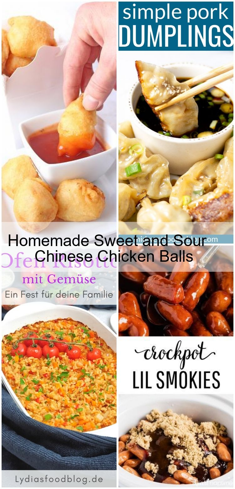 Homemade Sweet And Sour Chinese Chicken Balls Chicken Balls Chinese Chicken Food