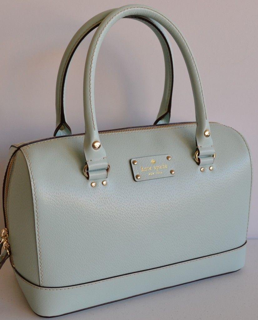 e3ef411f2c9 Nwt kate spade kaleigh wellesley jasper blue bowler purse bag ...