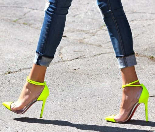 Christian Louboutin Neon Cap Toe Heels