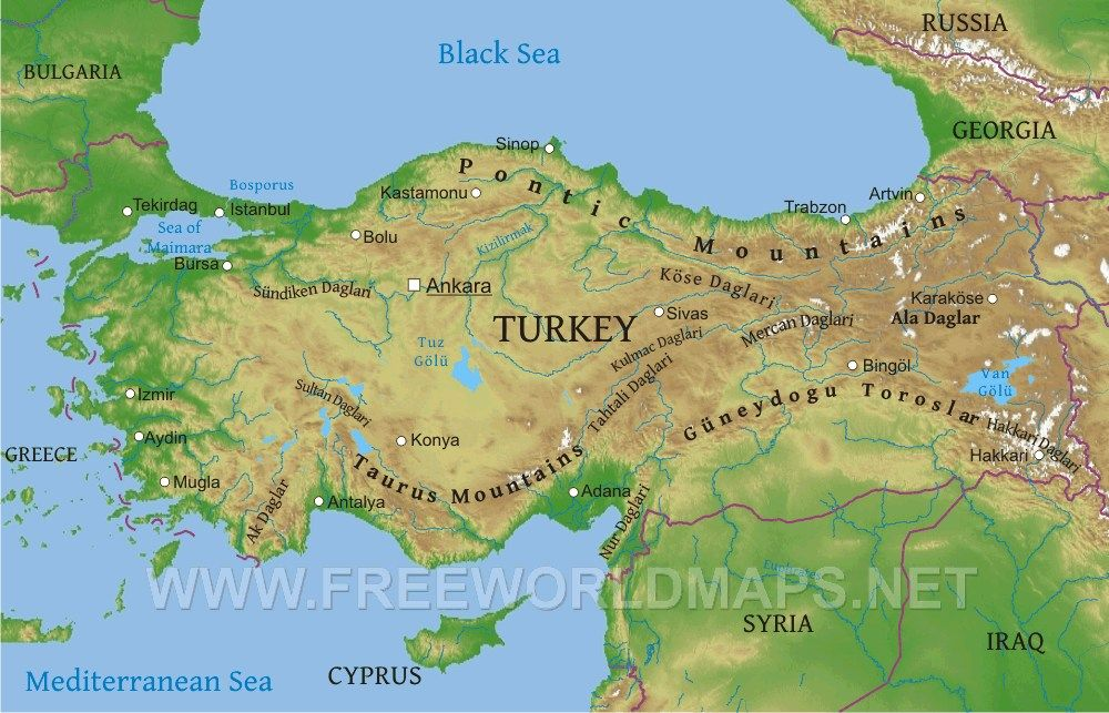turkey map physicaljpg 1000643 turkey map physicaljpg 1000643 Italy