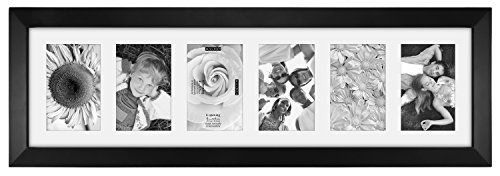 Malden International Designs Berkeley Matted Black Wood 6Opening 4 x 6 Collage Picture Frame *** Click image to review more details.