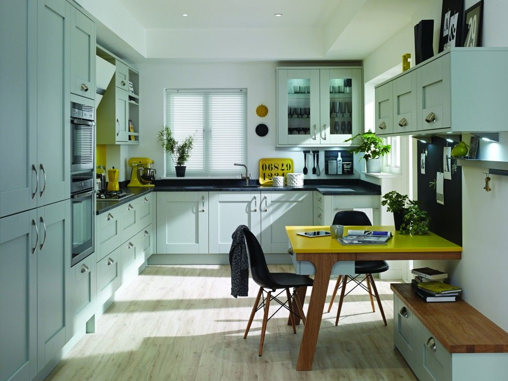 This pale grey kitchen is the Milbourne collection from Second ...