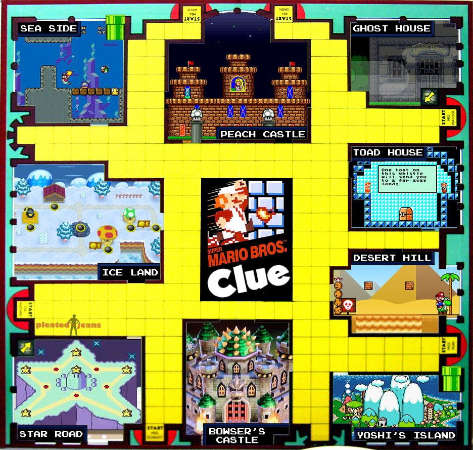 We Are So Making This To Play With Our Kids Clue Board Game Super Mario Run Super Mario