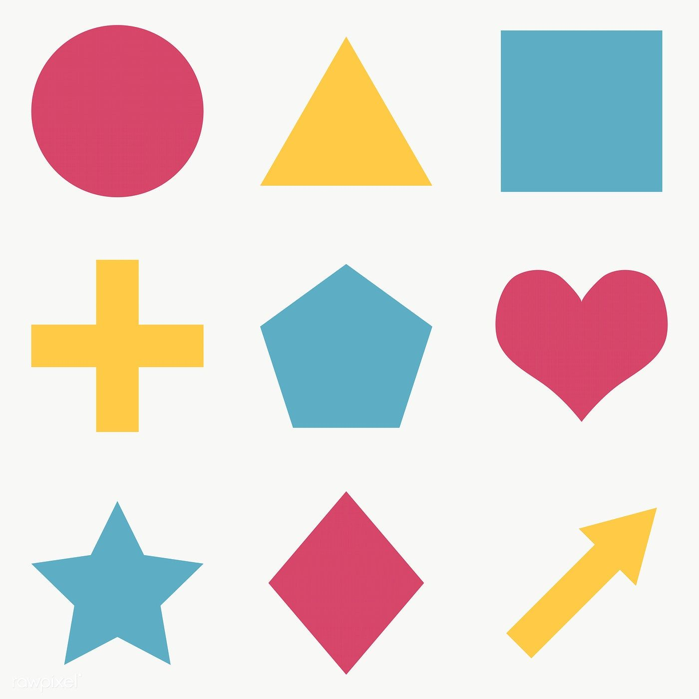 Colorful Flat Geometric Shapes Set Transparent Png Free Image By Rawpixel Com Ningzk V Geometric Shapes Geometric Shapes