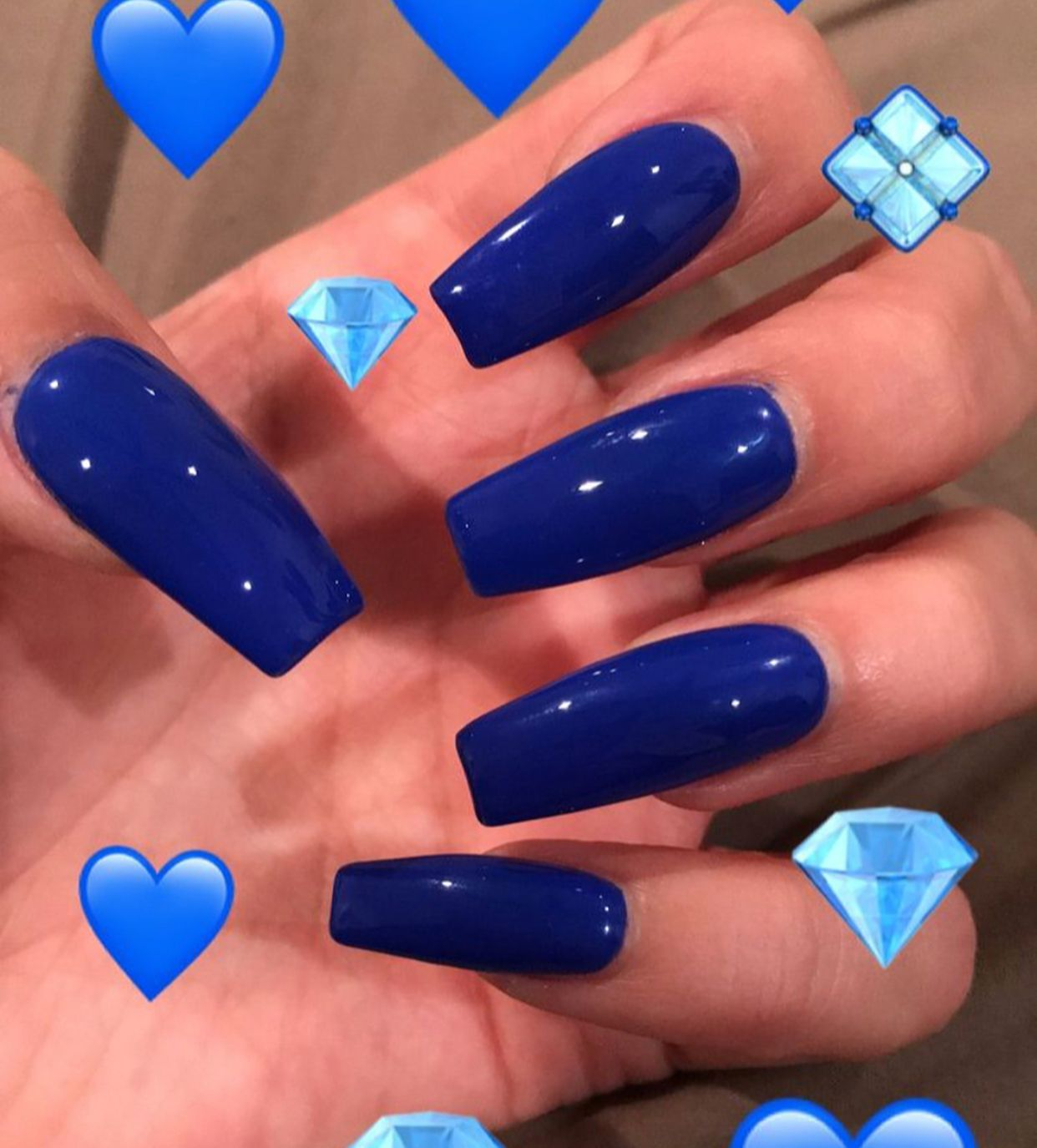Pin By Ig Postmadebaddie On Nails With Images Blue