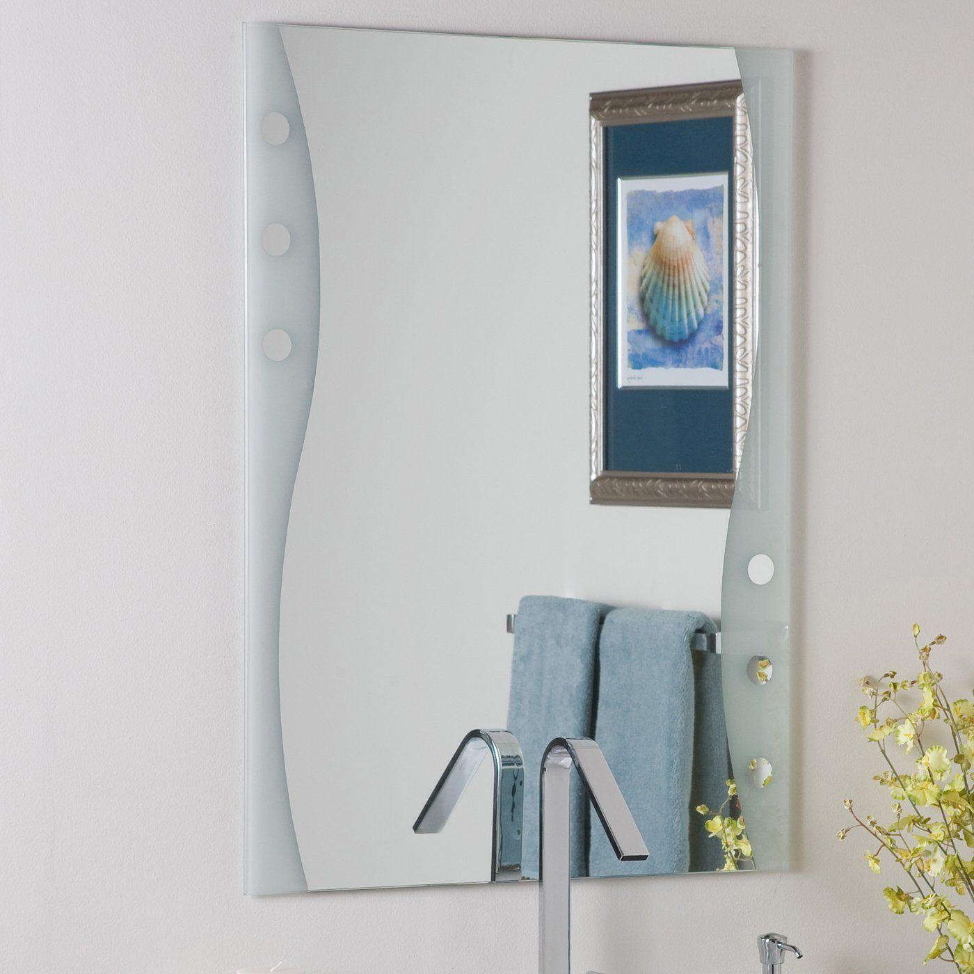 Decor Wonderland SSM182 Frameless Bathroom Mirror | amazing ...
