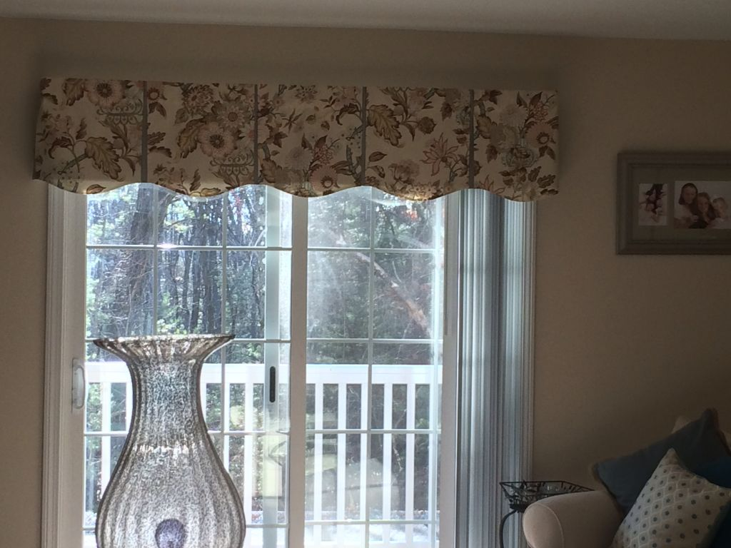 Jeannie valance over Vertical Blind Not Just Curtains   Vertical ...