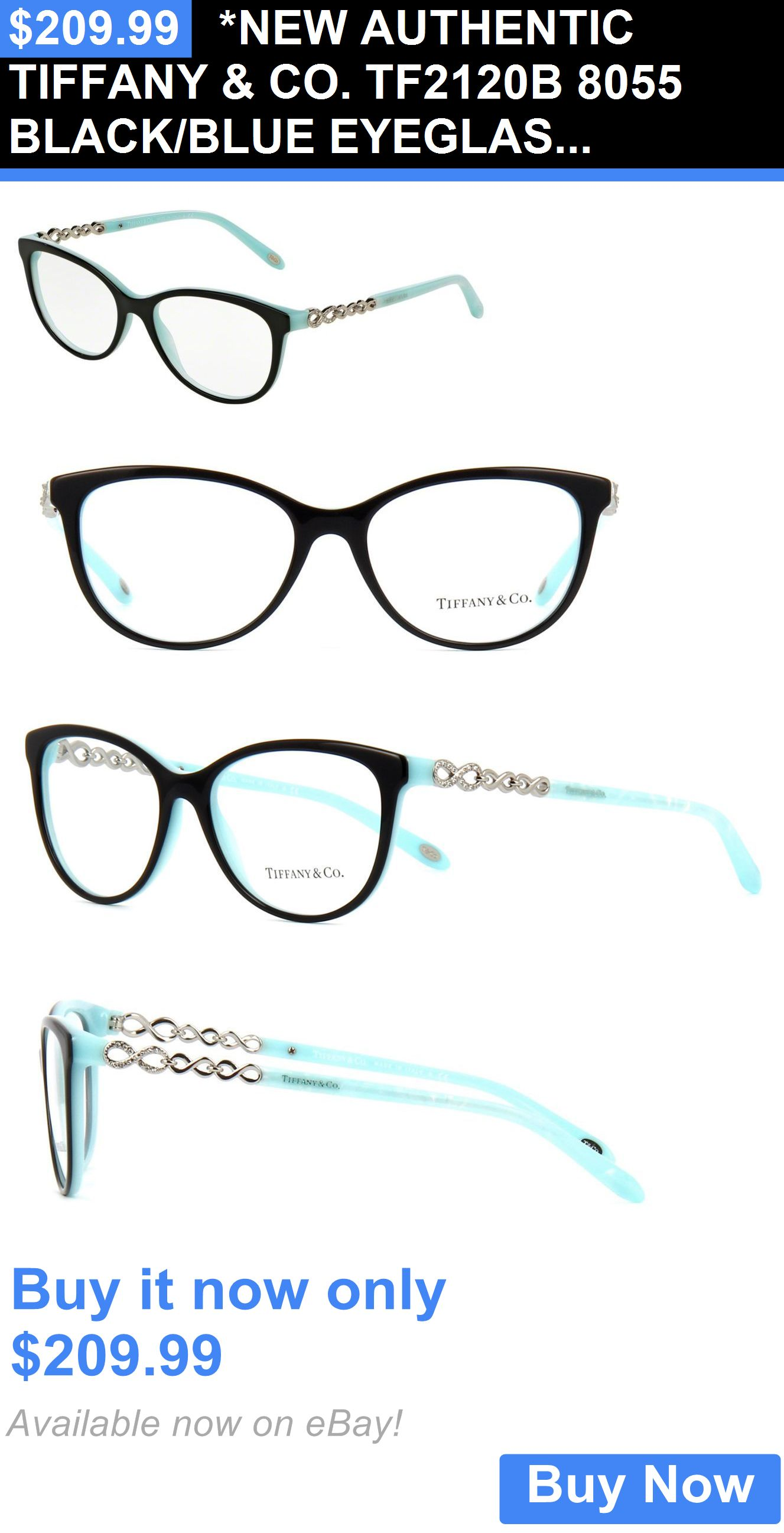 Eyeglass Frames: *New Authentic Tiffany And Co. Tf2120b 8055 Black ...