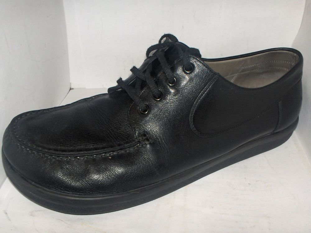 4196e1866e5 BAR MENS BLACK LEATHER SHOE SIZE 12M MADE IN GERMANY #BAR ...