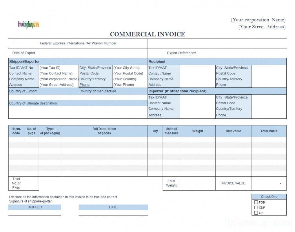 How To Send A Ups Canada Customs Invoice Pdf Sample In 2021 Invoice Template Word Invoice Template Brochure Template Fedex proforma invoice template pdf