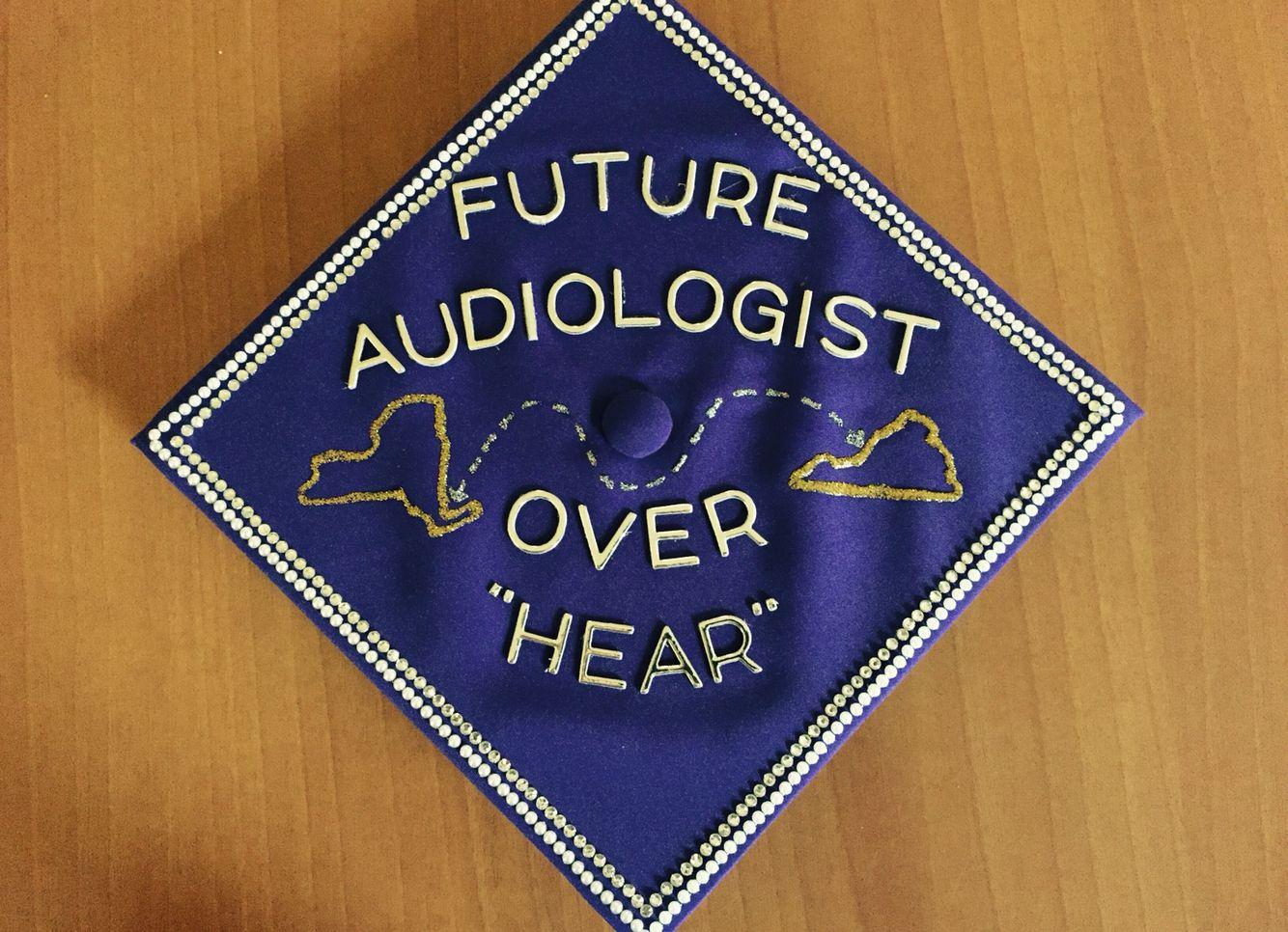 Audiology grad cap | Crafts | Pinterest | Grad cap, Cap and College ...