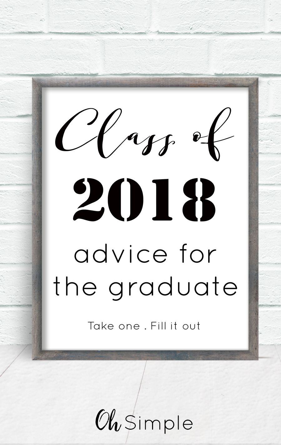 Free Printable With All Graduation Invitations Advice For The Graduate Perfect Addition To Any Party Have Each Guest Complete An