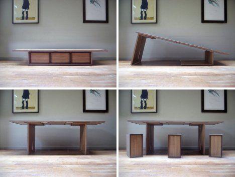 Tappi Mobili ~ Transformer furniture the flip table by flipfurniture mobili