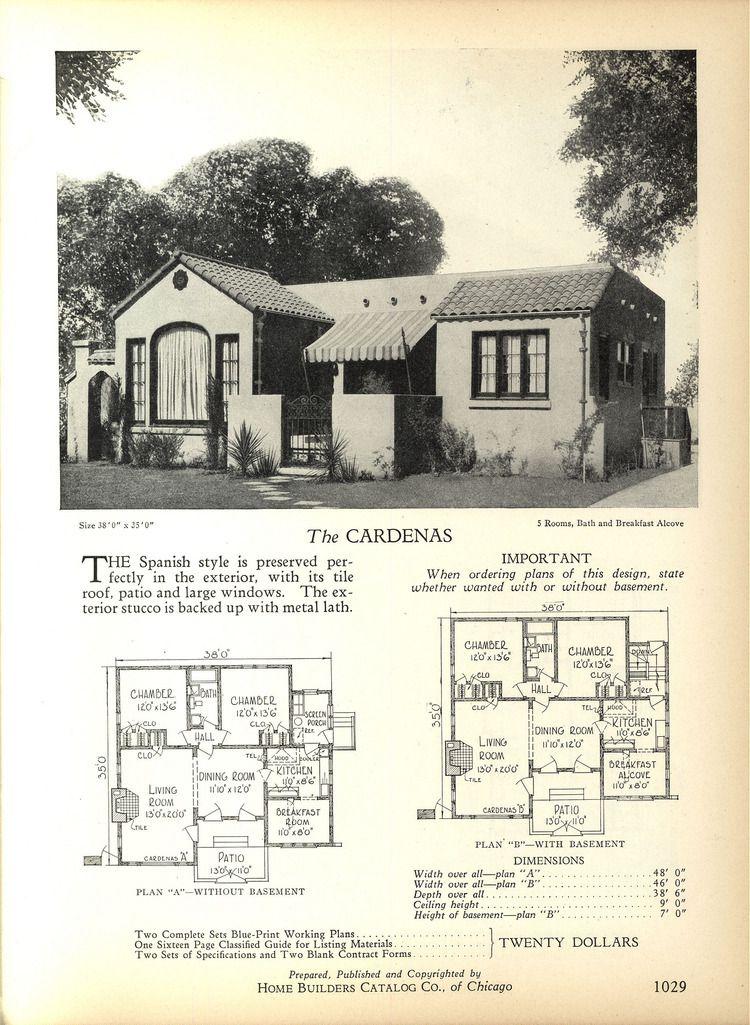 The Cardenas 1928 Home Builders Catalog