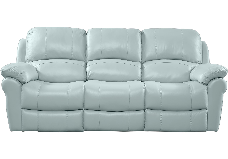 Best Vercelli Aqua Leather Reclining Sofa Blue Leather Sofa 400 x 300