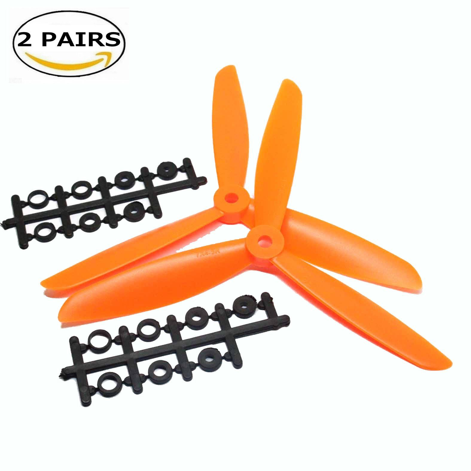 6 Colors DYS 6 Pairs 3045 3 Inch 3 Hole Propellers 3-Blade Prop for BE1102 BE1104 Motor FPV Quadcopters Multicopters Drones