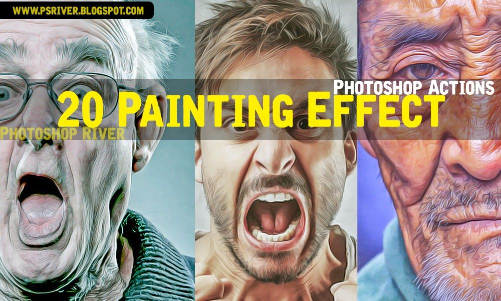 20 Hdr Oil Painting Effect Photoshop Actions Free Download