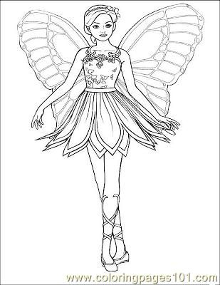 Fairy 1 (39) coloring page - Free Printable Coloring Pages   Zoey\'s ...