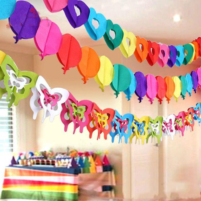 Guirnalda BUONCOMPLEANNO Feliz Cumplea/ños Decoraci/ón Fiesta Cumplea/ños Jard/ín Hogar Azul