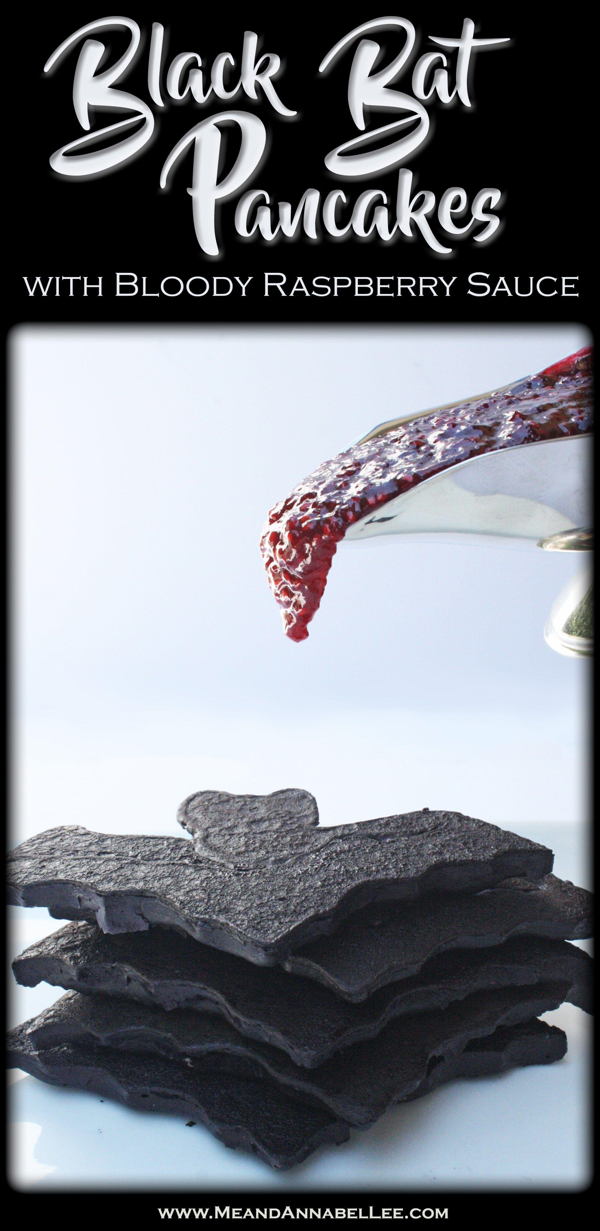Black Bat Pancakes Raspberry Sauce Recipes Vampire Pancake Mold Goth Baking Www Meandannabellee
