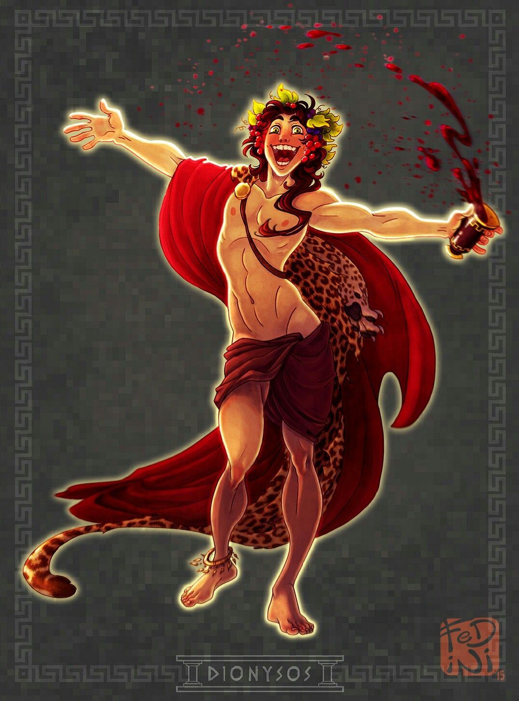 Dionysos By Fedini On Tumblr Greek Mythology Gods Greek Mythology Art Greek And Roman Mythology