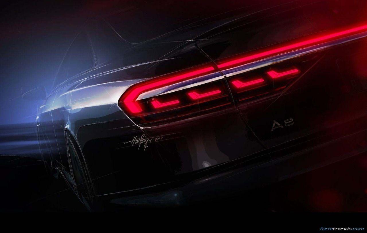 Audi A8 D5 Lighting Sketches Lanterna Traseira Lanterna