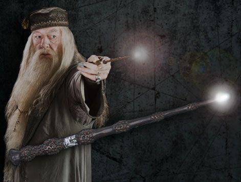 Harry Potter - Bacchetta Magica Punta Luminosa di Albus Silente ...
