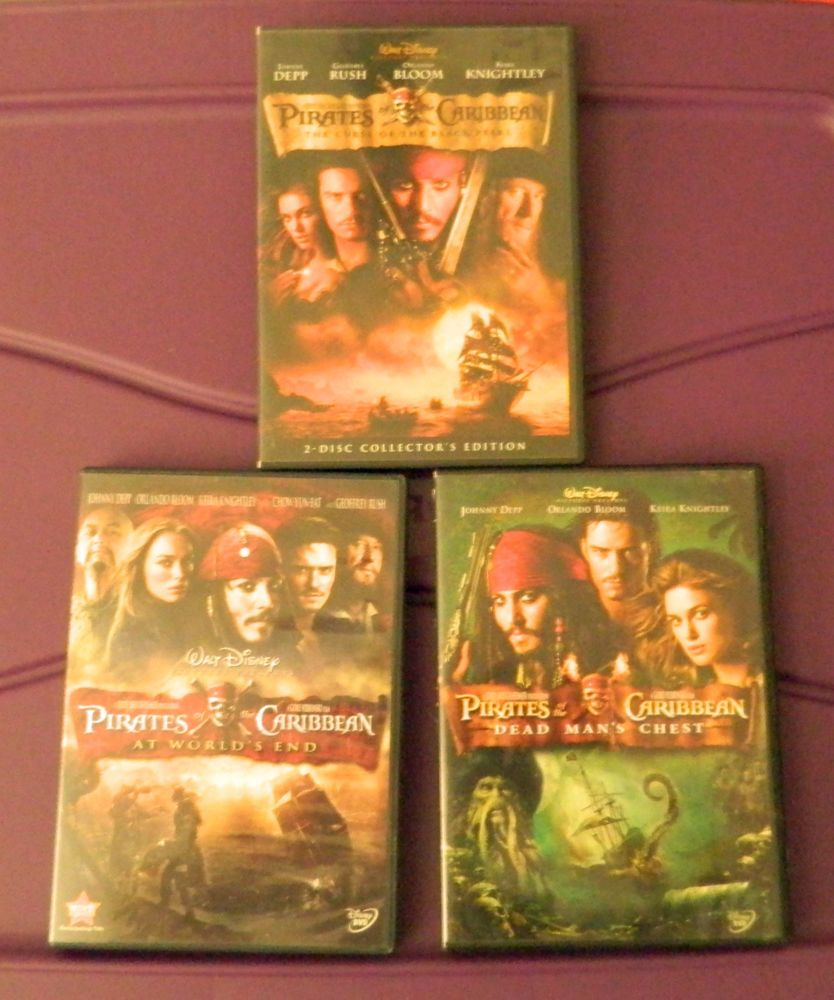 Disney Pirates of the Caribbean 1 2 3 1-3 DVD Dead Mans