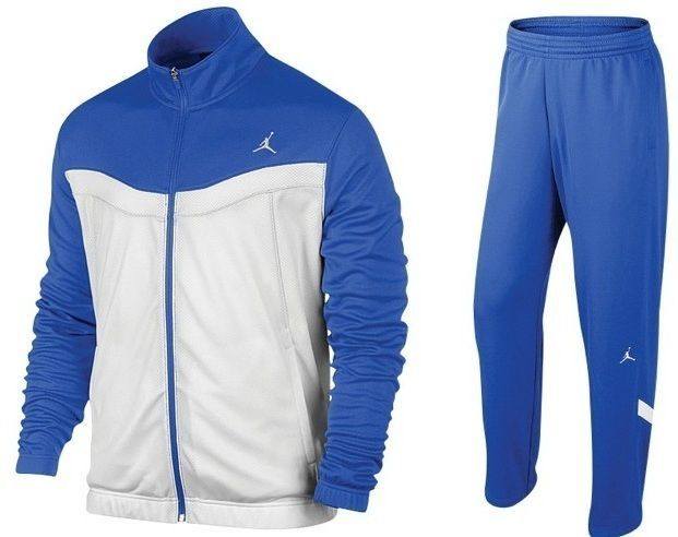 new concept aaa13 2dd34 NIKE AIR JORDAN WARM UP SUIT (JACKET PANTS) ROYAL BLUE WHITE NWT (SIZE  LARGE)