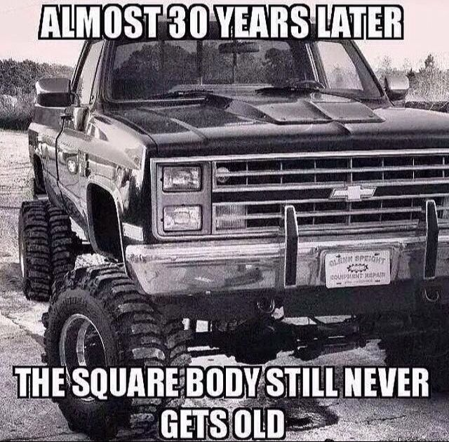 Squarebody never gets old | Chevy trucks, Jacked up trucks ...