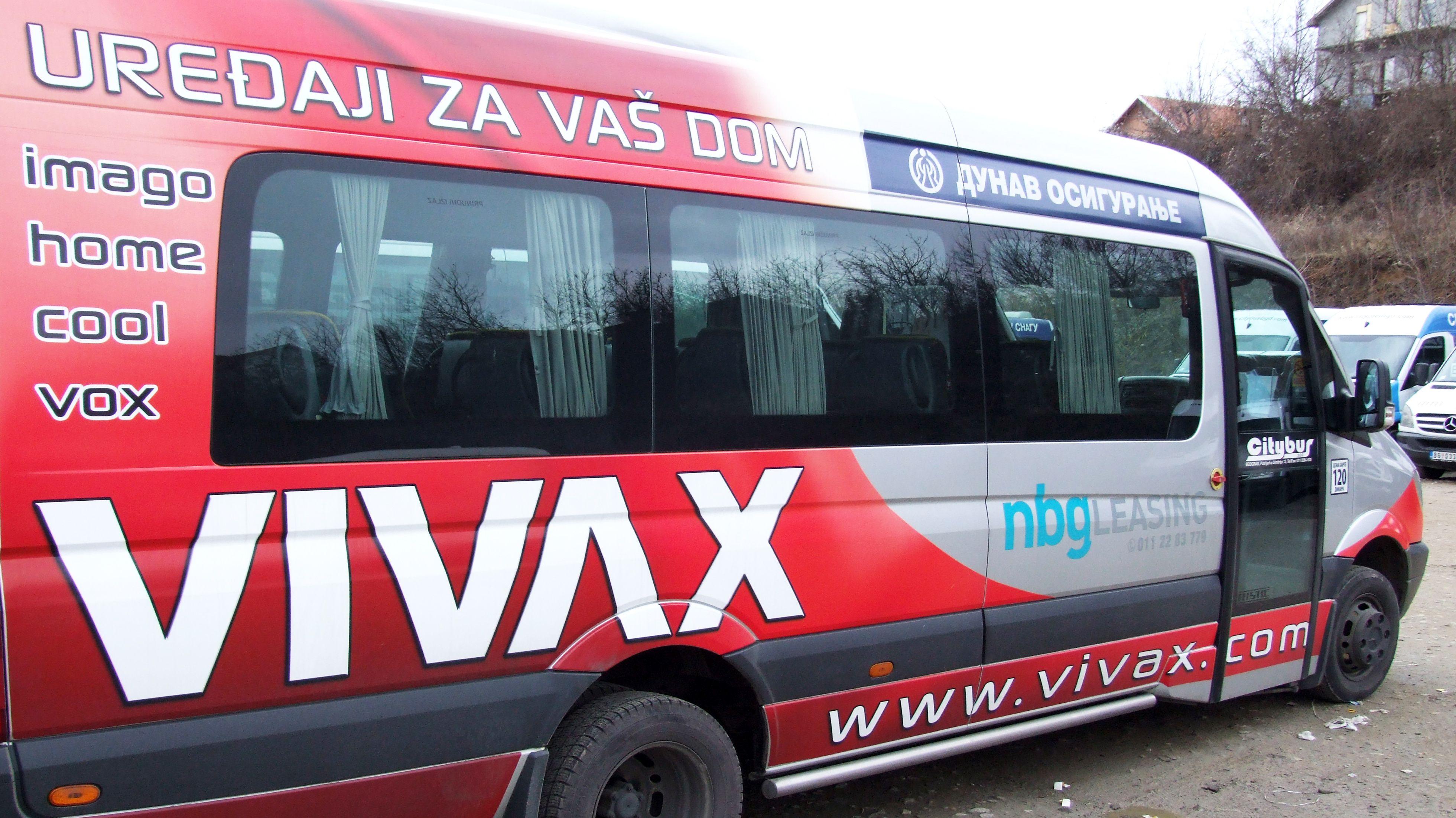 Brendiranje vozila i poslovnih prostora Pacarti studio Beograd Srbija Vivax