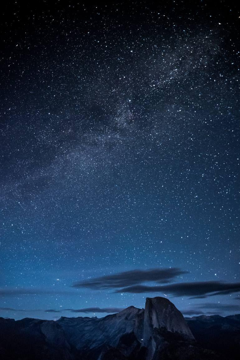 Milky Way Above Half Dome Photograph Milky Way Photography Milky Way Sky Photography