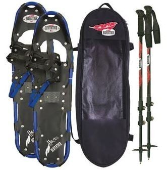 Redfeather Hike Snowshoe Kit with Poles (Red, 36) >>> You can find out more details at the link of the image.
