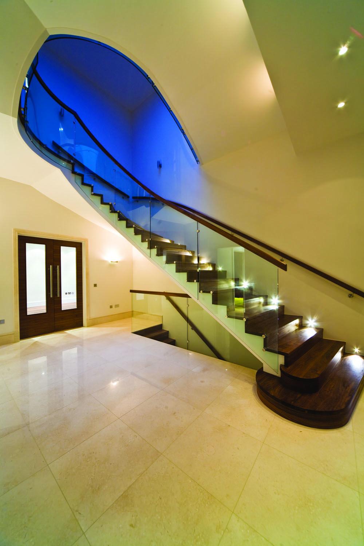 Illumination Onto Stair Treads From Alternative Steps.