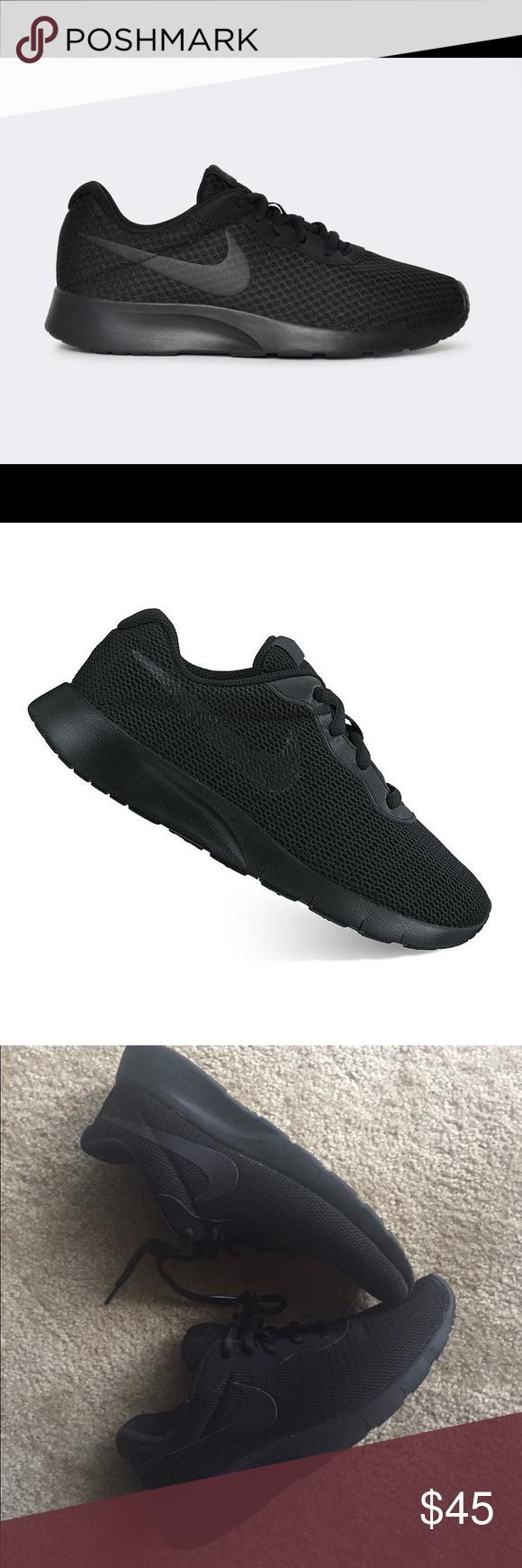 Dato relé Tiranía  All black Nike Tanjun | All black nikes, Black nikes, Nike tanjun