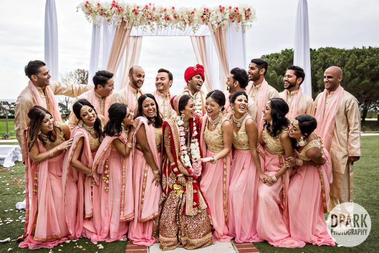 Sari Indian Pink Saree Parties, Bridesmaids, Guest of Wedding, etc.