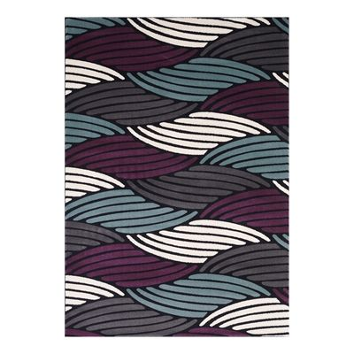 Segma Wl 671 L Waterloo Judy Charcoal Teal Purple Cream Area Rug