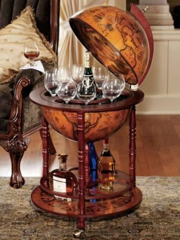 Sixteenth Century Globe With Hidden Bar Globe Bar Home Bar Furniture Bar Furniture