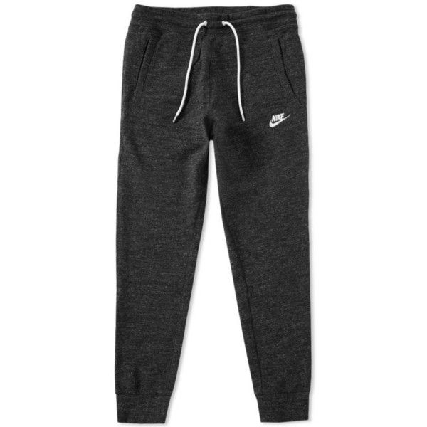 Nike Legacy Jogger ($69) ❤ liked on Polyvore featuring activewear, activewear pants, jogger sweatpants, nike activewear, tapered sweat pants, nike sportswear and sport sweatpants